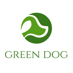 green dog veterinary vector concept