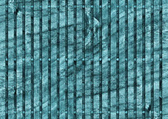 Walnut Wood Place Mat, Bleached and Stained Cyan, Grunge Texture