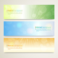 Set of abstract banner design with twinkle background in vector