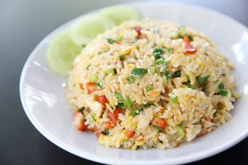 Chinese fried rice with pork