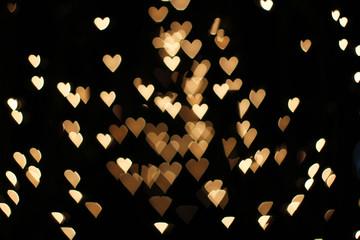 Blurry lights in heart shape