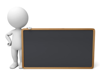 The 3D guy and a blackboard
