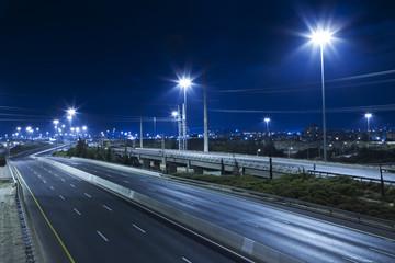 Empty Highway At Night