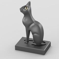 Egyptian goddess Bastet black figurine