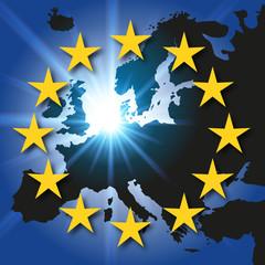 Carte Europe - drapeau