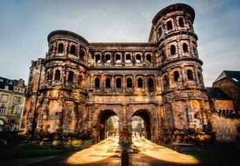 The Porta Nigra (Black Gate) in Trier city, Germany
