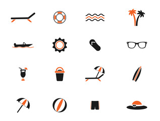 Beach simply icons
