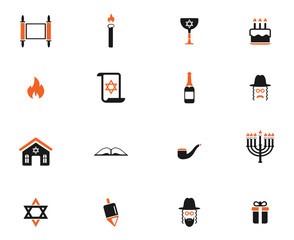 Hanukkah simply icons
