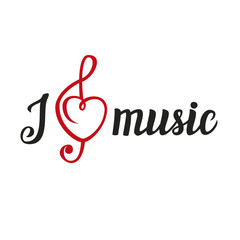 """Calligraphic script """"I love music"""""""
