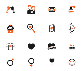 Valentines day simply icons