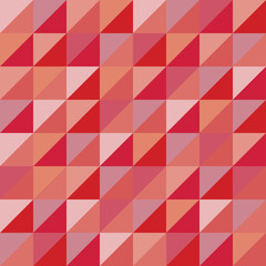 Vector modern seamless colorful geometry triangles pattern, color red abstract geometric background, pillow multicolored print, retro texture, hipster fashion design