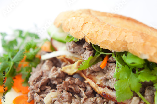 """banh mi vietnamese sandwich asian beef bacon fast food ..."