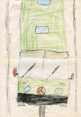 "Children's drawings ""Bus"""