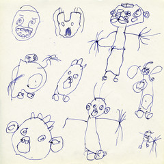 "Children's drawings ""Monsters"""