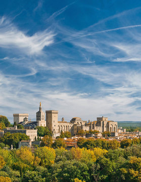 View of Papal palace in Avignon