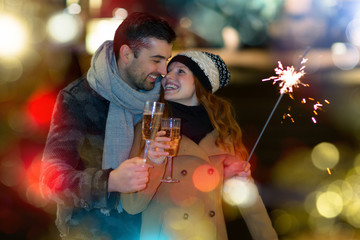 Silvester New years eve couple