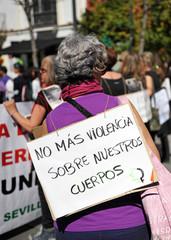 Manifestación feminista, derechos de la mujer