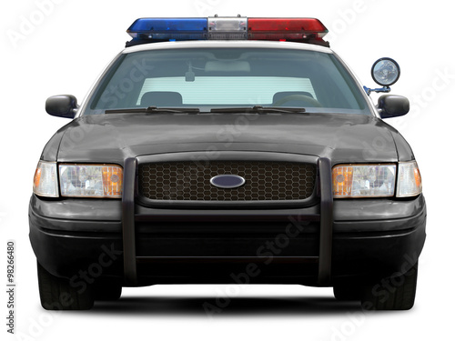 police ford crown victoria front view isolated on white. Black Bedroom Furniture Sets. Home Design Ideas