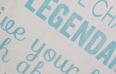 wall paper background with words in aqua