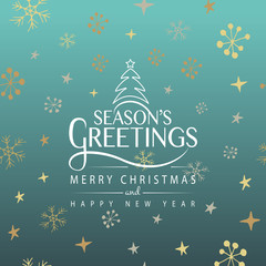 Hand sketched Season's Greetings logotype, badge and icon