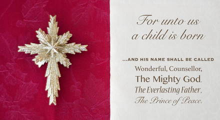 Isaiah nine passage out of the bible for unto us a child is born