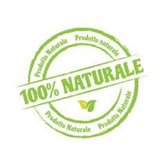 etichetta 100% naturale