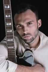 Man and his guitar