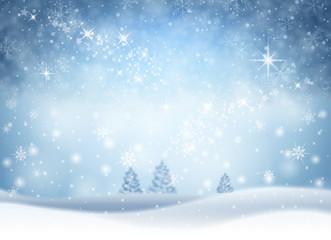 Świąteczne zimowe tło z padającym śniegiem