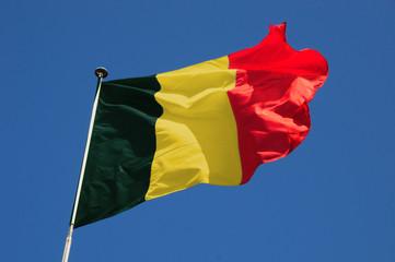 Wall Mural - Fluttering Belgian Flag