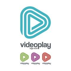 Video Play Logo Icon, Labirin Design Illustration