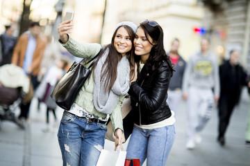 Young women in the shopping