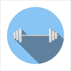 Barbell flat icon