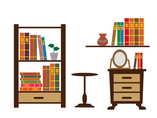 本棚とインテリア家具