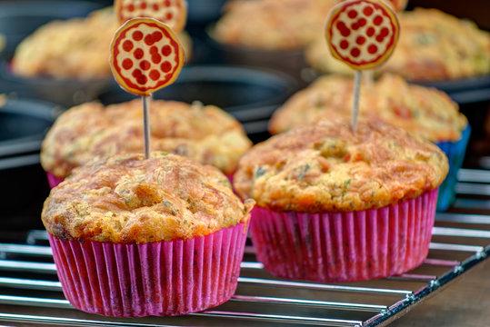 Homemade Pizza Muffin