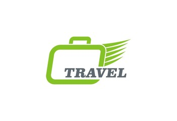 travel bag vector logo