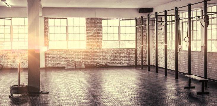 A shot of a gym