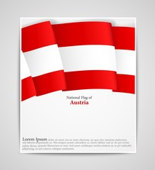 National flag brochure of Austria