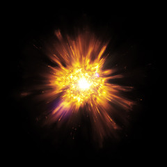 big bang explosion with sparks