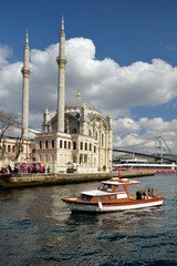 View of Ortakoy Mosque, Istanbul, Turkey.