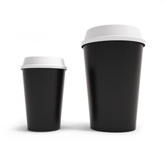 mockup two cups of coffee