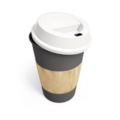 mockup cardboard coffee cup with lid