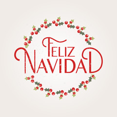 Hand sketched Feliz Navidad (Happy New Year in spanish) logotype