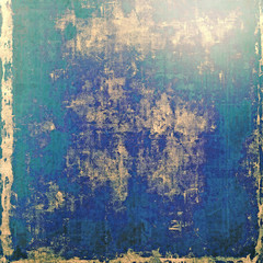 Vintage textured background. With different color patterns: yellow (beige); blue; green; gray