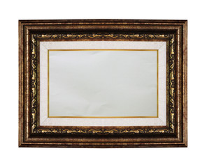 Picture frame isolated on black background