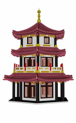 Pagoda - 3D render