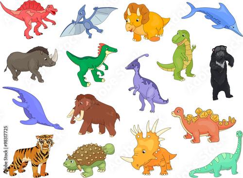 Palaeosaurus, styracosaurus, spinosaurus, ichthyosaur, diplodocu