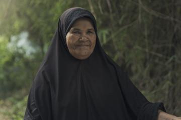Old Muslim woman