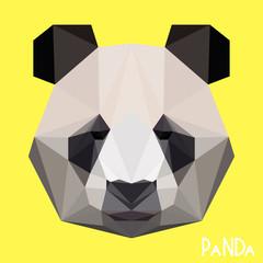 Polygonal geometric panda portrait