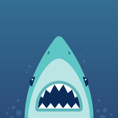 Shark attack illustration
