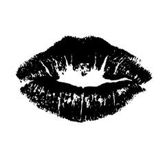 Black lips kiss